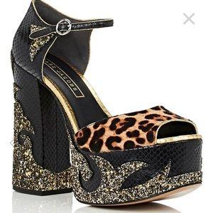 Marc Jacobs Calf-hair Leather Platform Sandals sz9